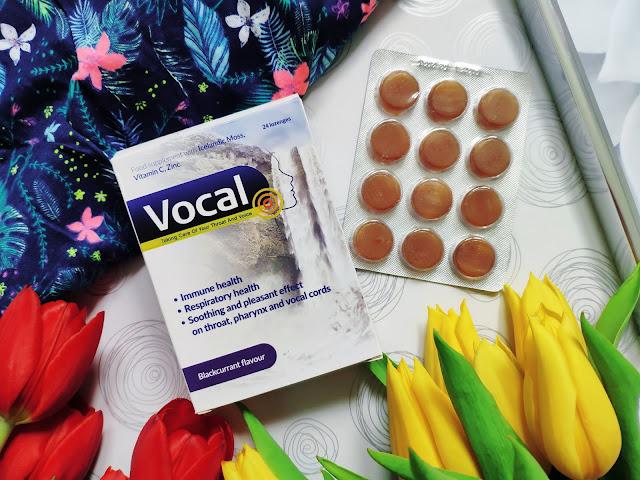 Vocal - Twarde pastylki do ssania o smaku czarnej porzeczki