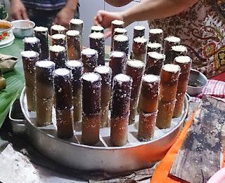 Jajanan kuliner kota Malang Puthu Lanang Celaket