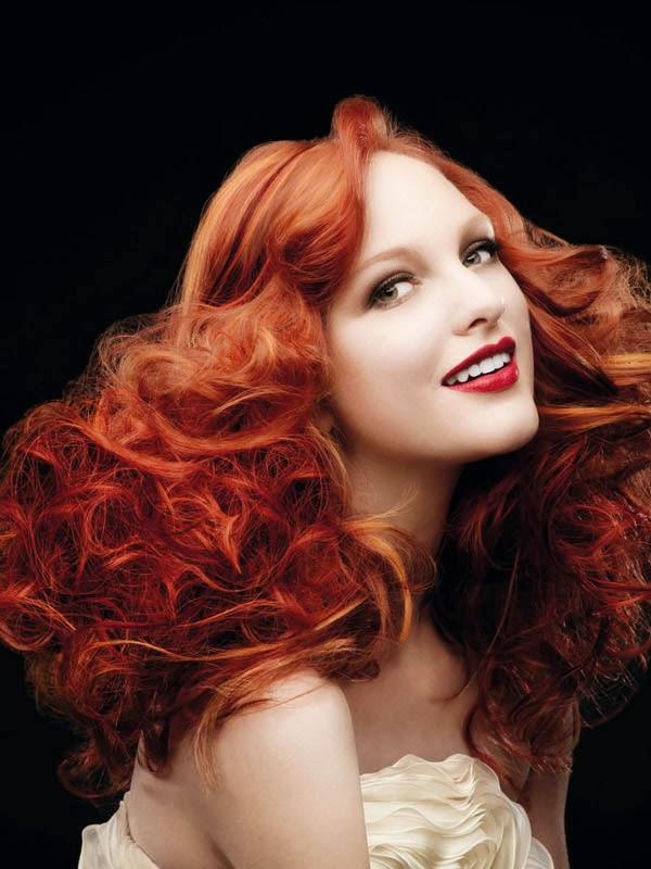 cortes de pelo color rojo cobre pelo largo 2017