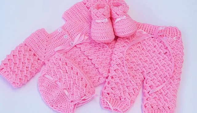 Tutorial Ajuar Completo de Bebita a Crochet