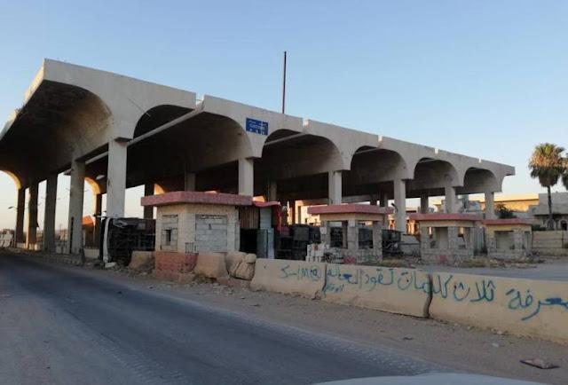 بالصور معبر نصيب الحدودي في عهدة الجيش العربي السوري .