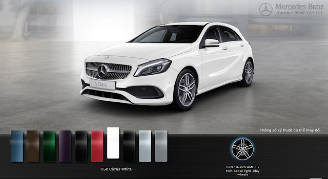 Thiết kế ngoại thất Mercedes A250 2018