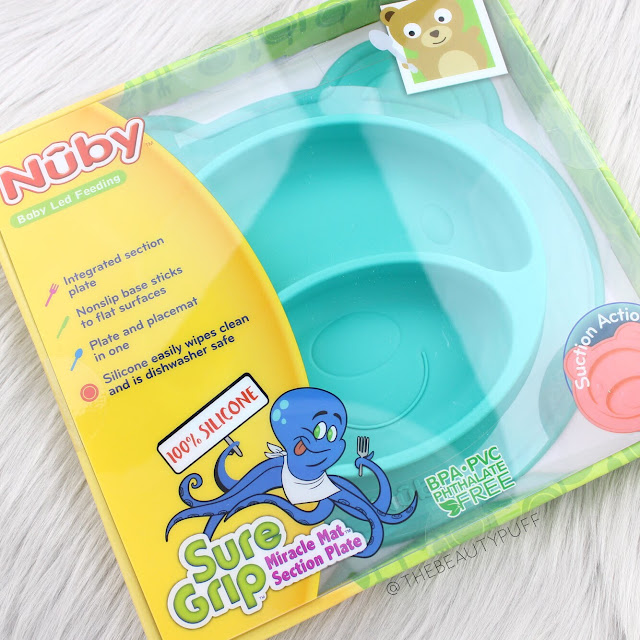 Nuby Sure Grip Miracle Mat Section Bear Plate  |  The Beauty Puff