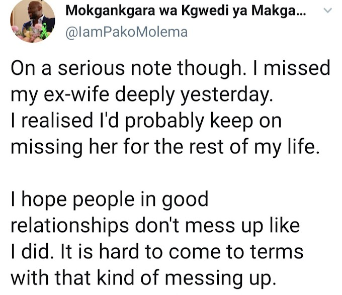"""Don't mess up like I did"" - Man who messed up his marriage reveals he's missing his ex-wife as he advices men not to make same mistake"