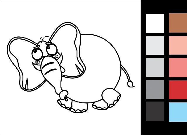 9. Gambar Mewarnai Hewan Gajah