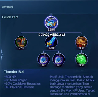 penjelasan lengkap item mobile legends item thunder belt