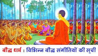 बौद्ध धर्म  विभिन्न बौद्ध संगीतियों की सूची