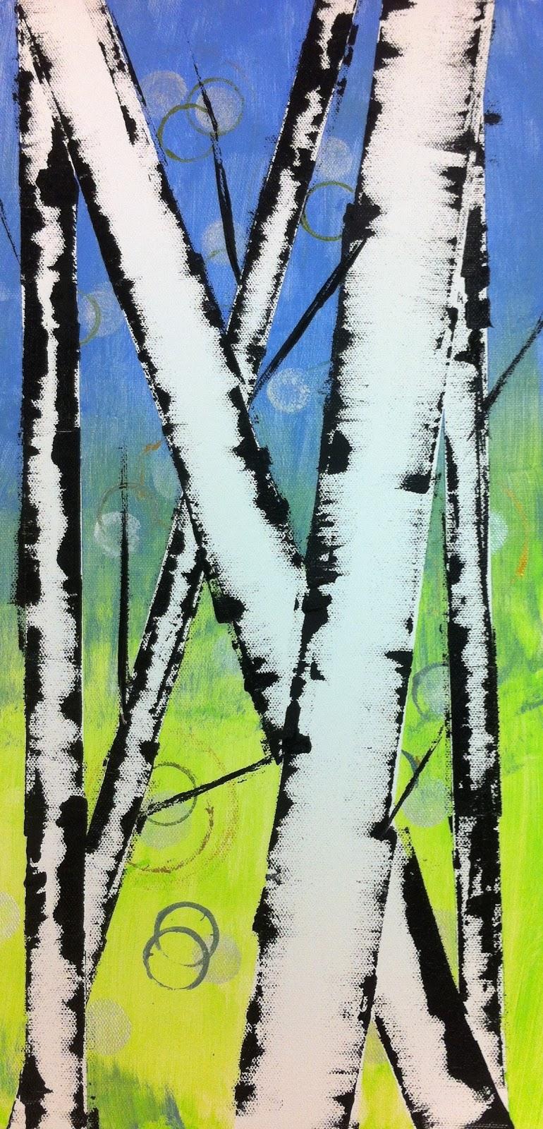 Angela Anderson Art Blog Easy Birch Trees