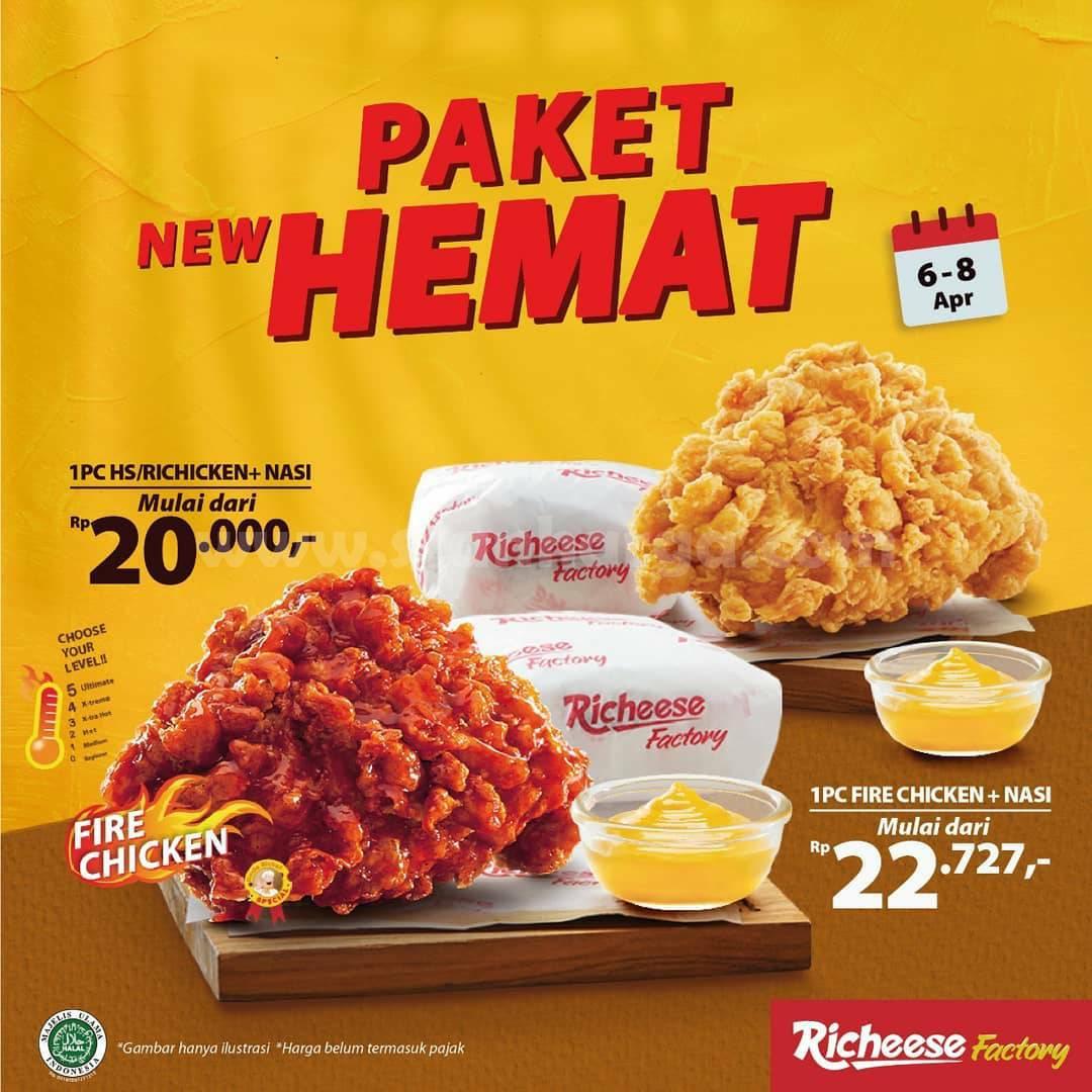 RICHEESE FACTORY Promo PAKET NEW HEMAT Fire Chicken Mulai Rp. 20.000