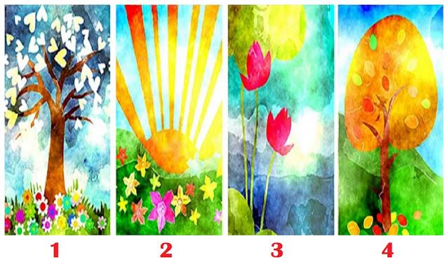 Тест: Какой из этих четырех рисунков ассоциируется у вас с ощущением счастья?