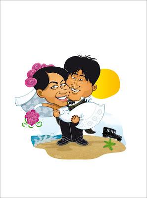 caricatura para parejas