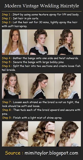 modern vintage wedding hairstyle