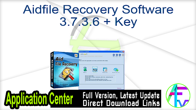 Aidfile Recovery Software 3.7.3.6 + Key