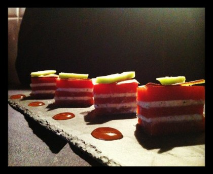 Tomato mozza with agar-agar