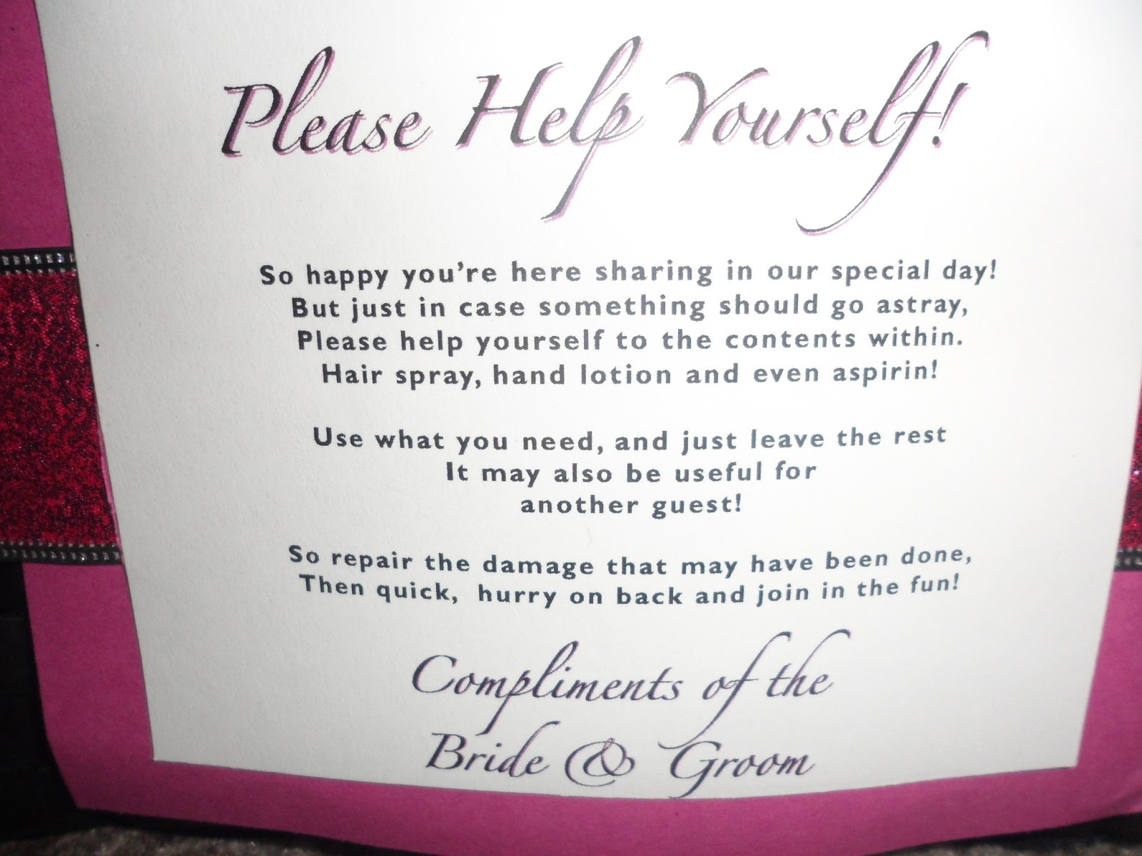 Guest Bathroom Basket Sign
