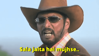 Sala jalta hai mujhse, Nana Patekar as Uday Shetty | best welcome movie meme templates & dialogue