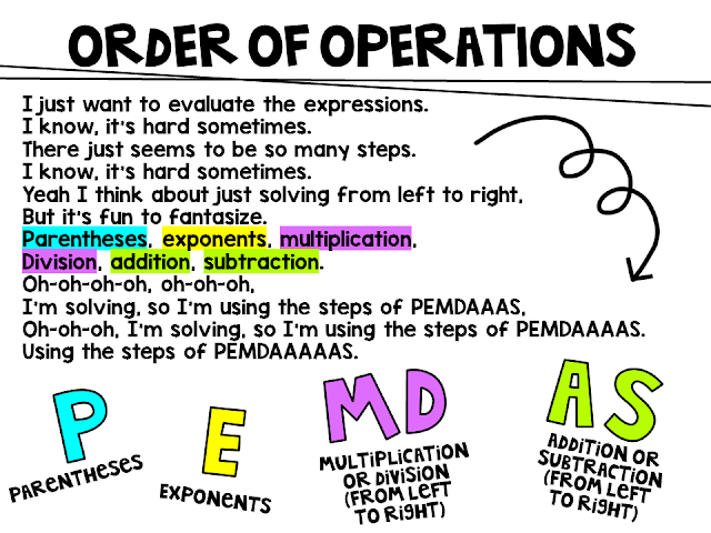 miss 5th order of operations pemdas song lyrics