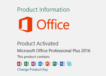 Office 2016 Activation Verify