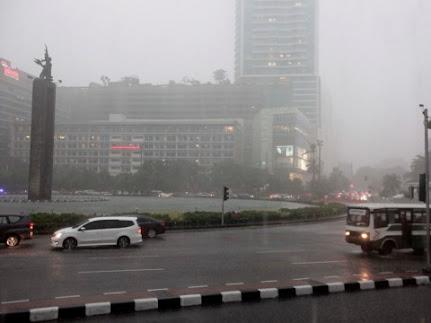 Siang Nanti Jakarta Diprediksi Diguyur Hujan