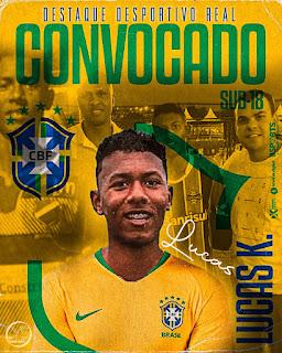Destaque no Desportivo Real é convocado para Seleção Brasileira Sub-18
