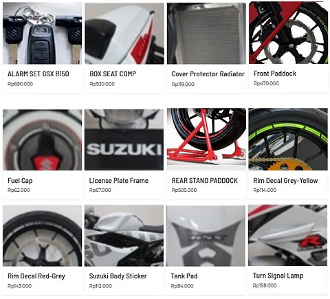 Suzuki GSX R150 Accessories