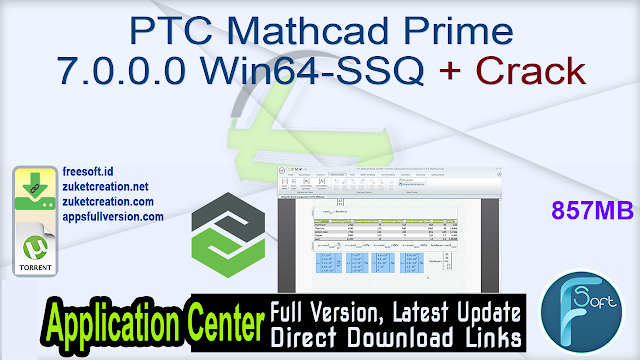 PTC Mathcad Prime 7.0.0.0 Win64-SSQ + Crack