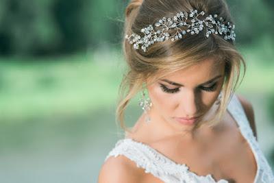 Biżuteryjny wianek ślubny