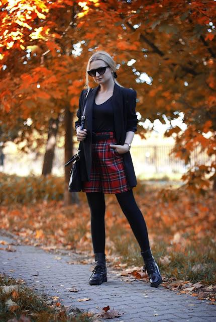 Szkocka krata w jesiennym wydaniu