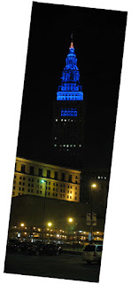 photo of Terminal Tower at night
