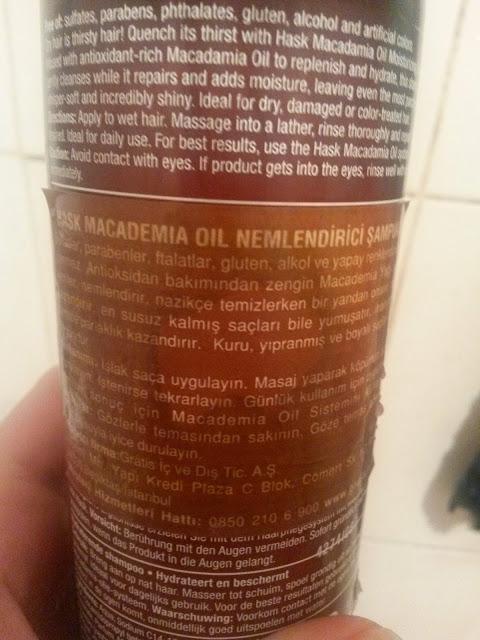 HASK ŞAMPUAN - Macadamia Oil