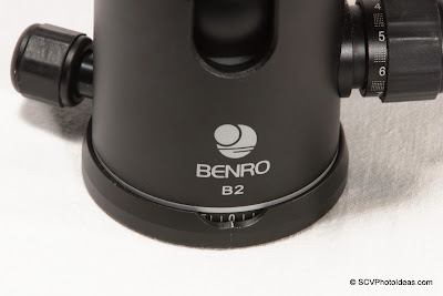 Benro B-2 panning index mark scratched