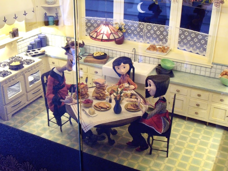 Coraline stop-motion puppets kitchen set