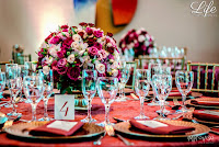 festa de formatura no pool bar do hotel sheraton porto alegre com decoração sofisticada em tons de marsala e dourado por life eventos especiais