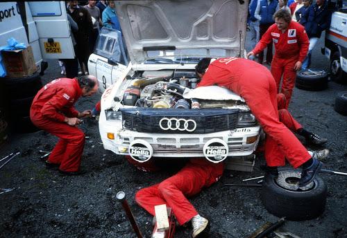 Audi Quattro Service area