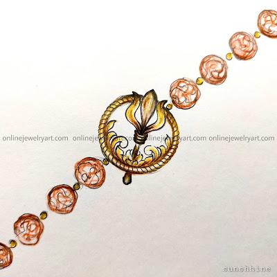 Gold rakhi online