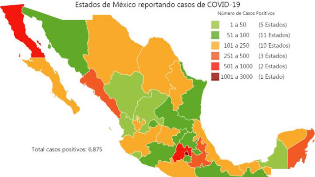 Estadísticas de coronavirus en México
