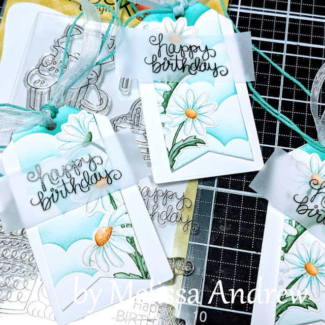 Birthday Tags by Guest Designer Melissa Andrew   Dainty Daisies Stamp Set by Newton's Nook Designs #newtonsnook
