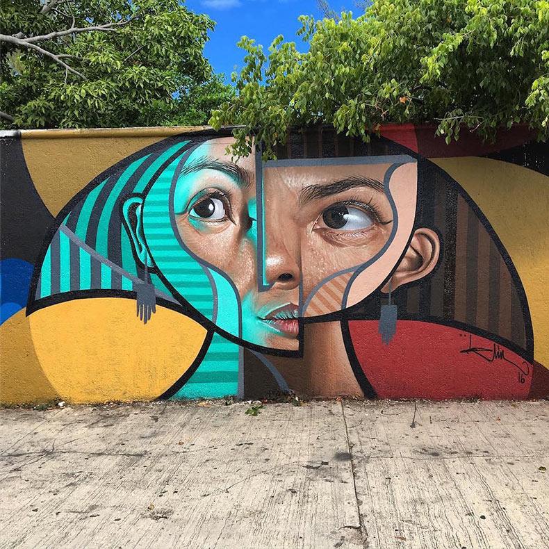 Cubismo y realismo chocan en nuevos murales y pinturas de 'Belin'