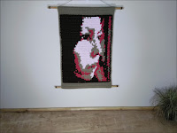Solitaire Abstract Portrait Fine Art Tapestry by Jen Ten Art