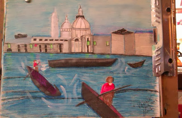 "Sketch created by Gloria Poole; & it is named ""Venice"""
