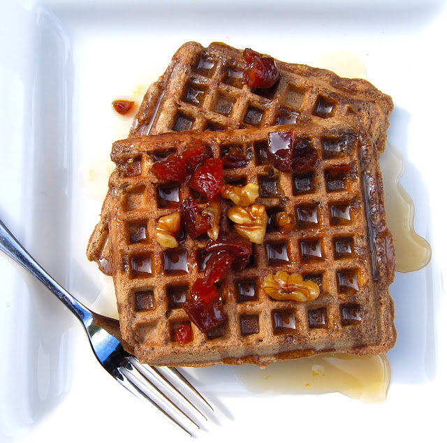 Vegan Gluten-Free Waffles with Buckwheat and Rice Flours