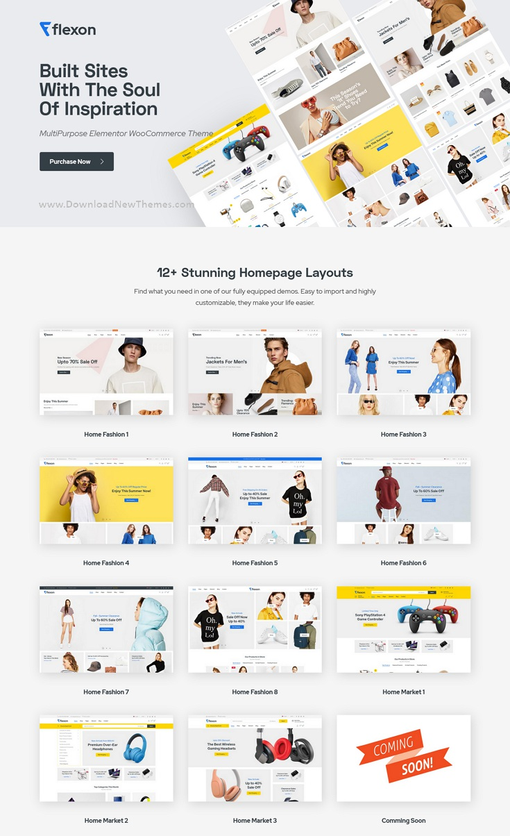 Fashion, Electronics, Market WooCommerce Theme