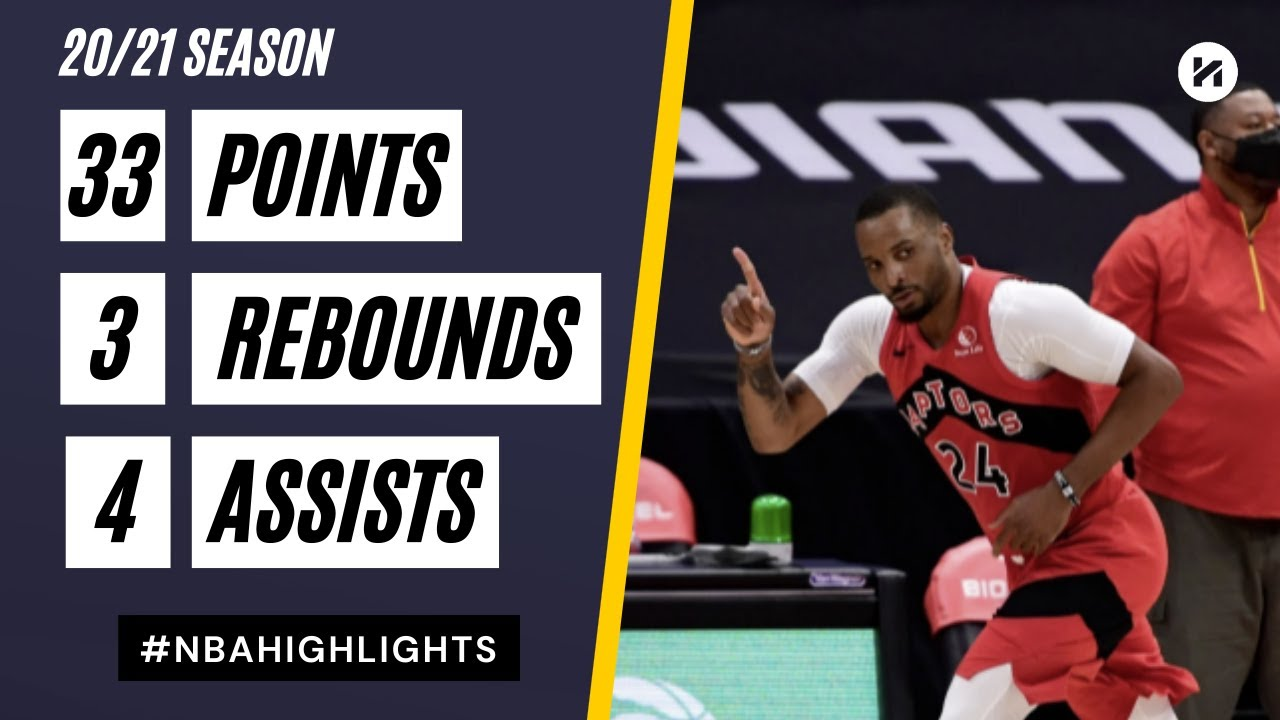 Norman Powell 33pts 4ast vs ATL   March 11, 2021   2020-21 NBA Season