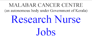 Government of Kerala Research Nurse Jobs -30000 Salary per month