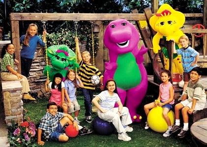 Foto de Barney y sus amigos posando para la foto
