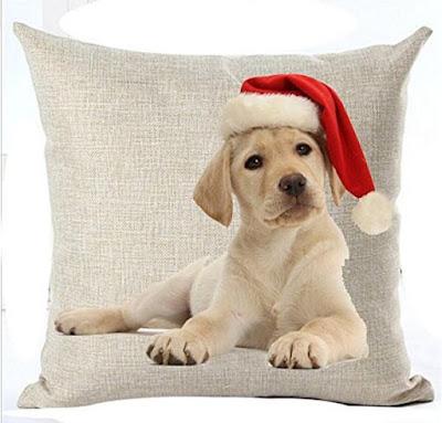 dog christmas pillows
