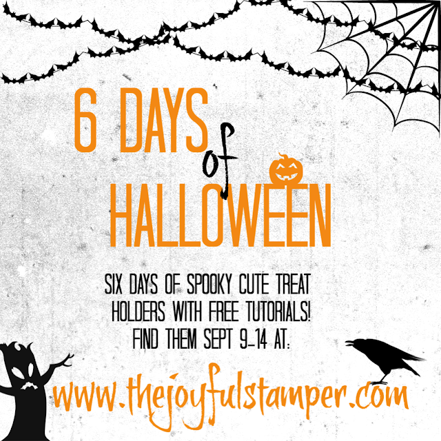 6 Days of Halloween Blog Series by Nicole Steele The Joyful Stamper - spooky cute treat holders with free pdf tutorials