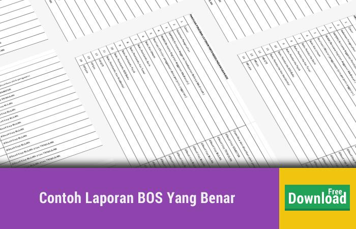 Update Contoh Laporan SPJ BOS Senin 22 Januari 2018
