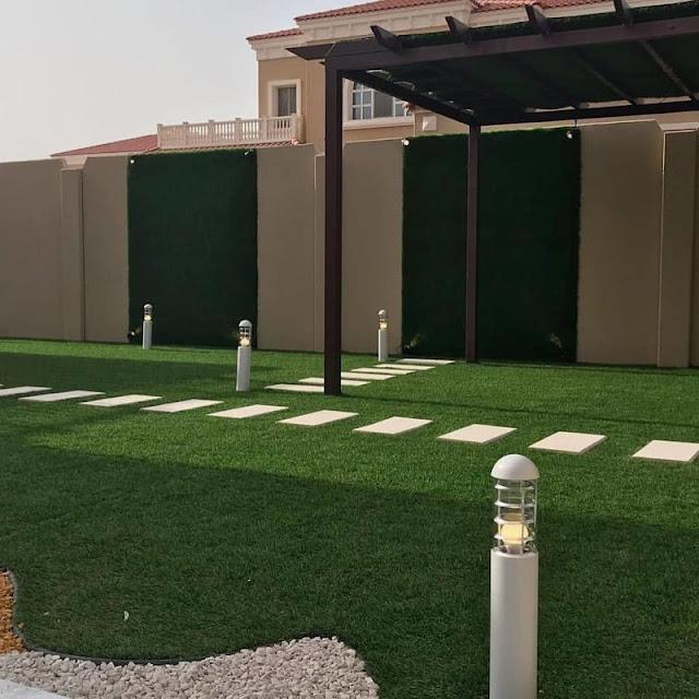 تنسيق حدائق الاستراحات بخميس مشيط