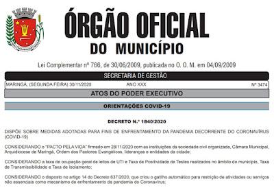 Decreto impõe lei seca em Maringá. Café com Jornalista